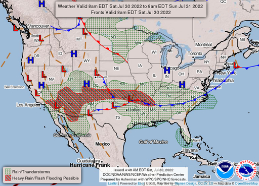 Current Weather Map Usa National Forecast Maps