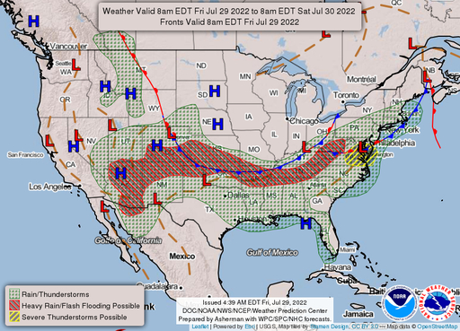 Traditional Weather Map.National Forecast Maps