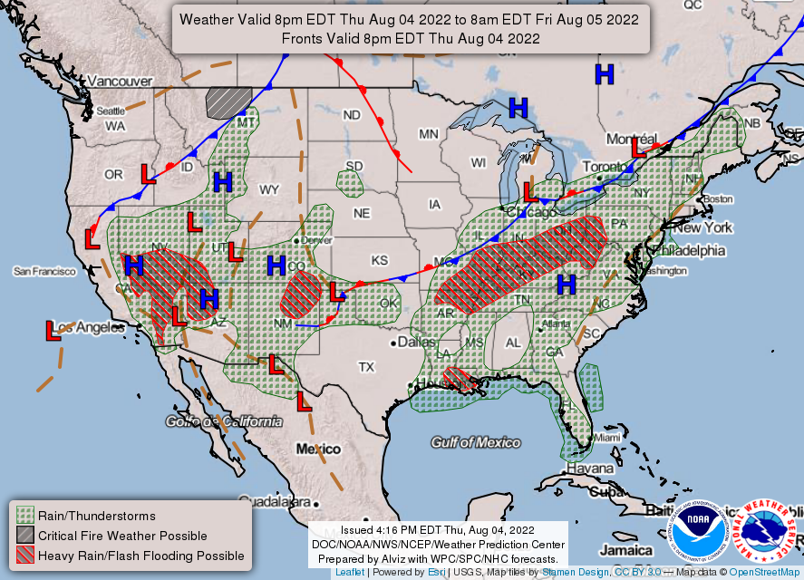 Experimental National Forecast Chart Static Images