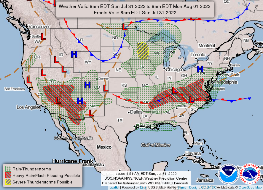 Weather Prediction Center Wpc Home Page - Weather-map-for-western-us