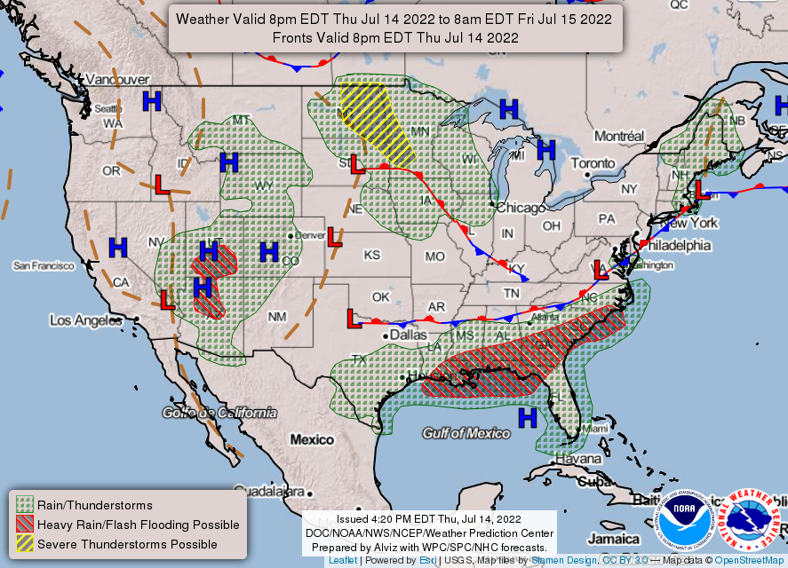 Foresthill Weather.com - NWS WPC Experimental US 3 Day Forecast Charts