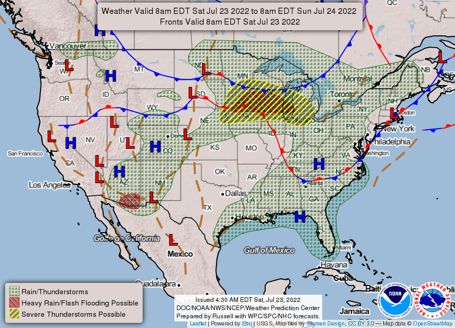 U.S. Fronts/Surface Map
