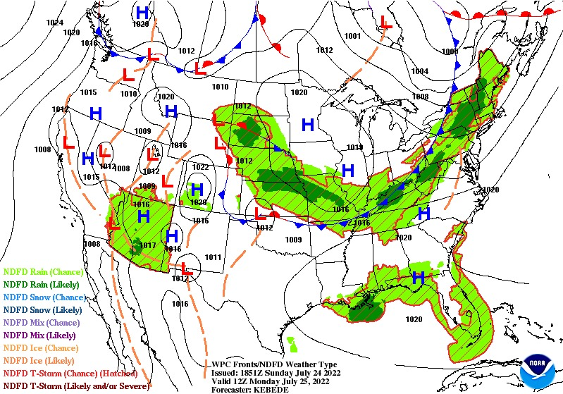 24-Hour Surface Forecast