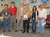 Mike Davison receives the NCEP  