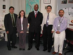 WMO Assistant Secretary-General Lengoasa visits the WPC/International Desks - May 8, 2006