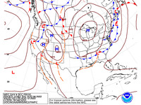 Final Day 6 Fronts and Pressures for the CONUS