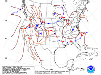 Final Day 7 Fronts and Pressures for the CONUS