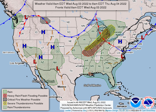 Latest Surface Map
