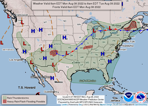SE Lincoln, NE USA Weather Website - NWS US Fronts/Forecast Maps