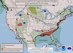 USA weather map, click to enlarge!