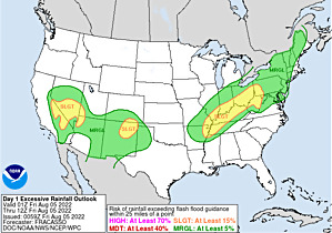 WPC's Day 1 Excessive Rainfall Forecast