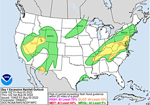 Excessive rainfall outlook