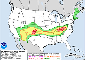 Current Day 1 Excessive Rainfall Forecast