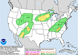 Current Day 2 Excessive Rainfall Forecast