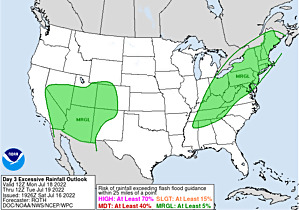 Current Day 3 Excessive Rainfall Forecast