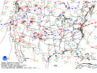 Latest United States (CONUS) surface analysis with observations