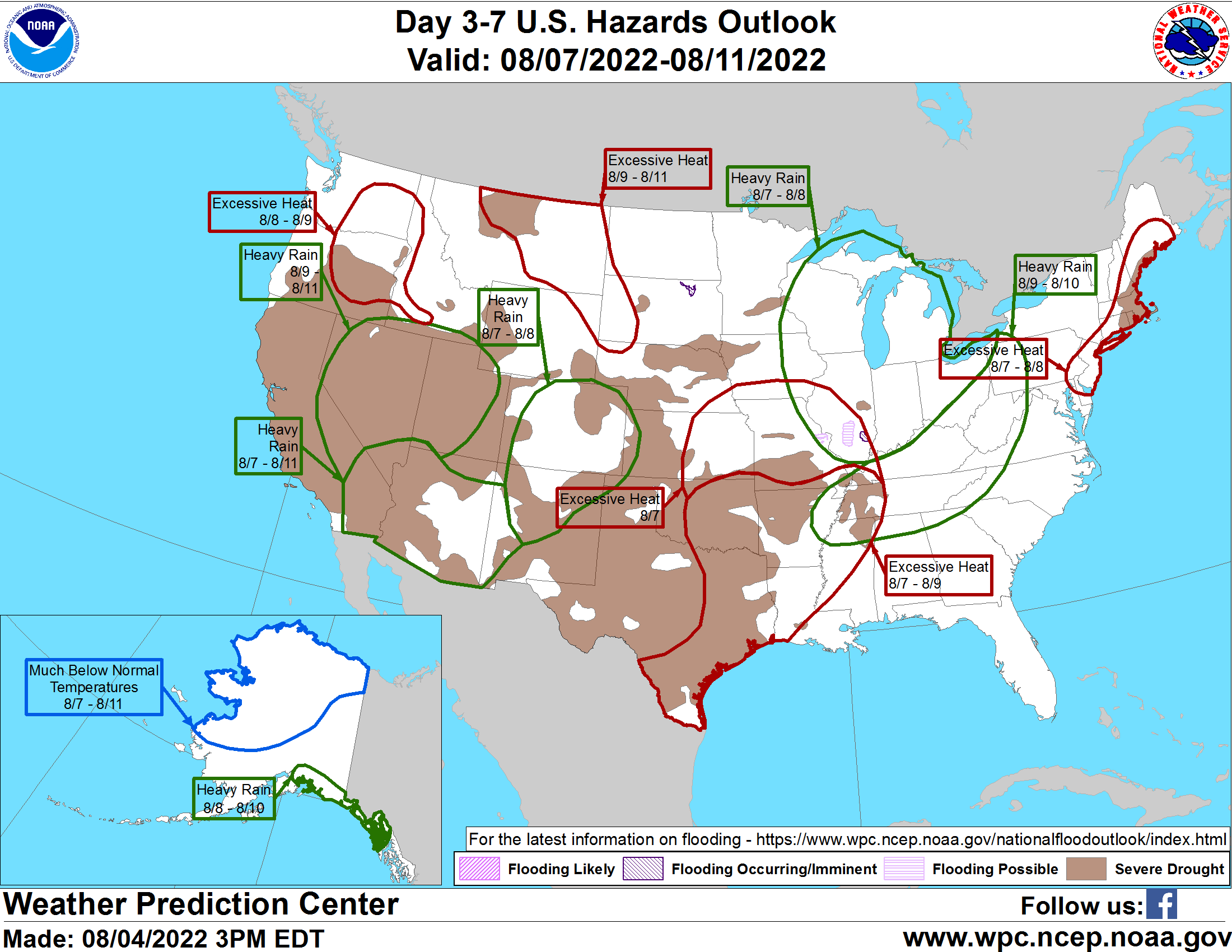 Day 3-7 hazards outlook