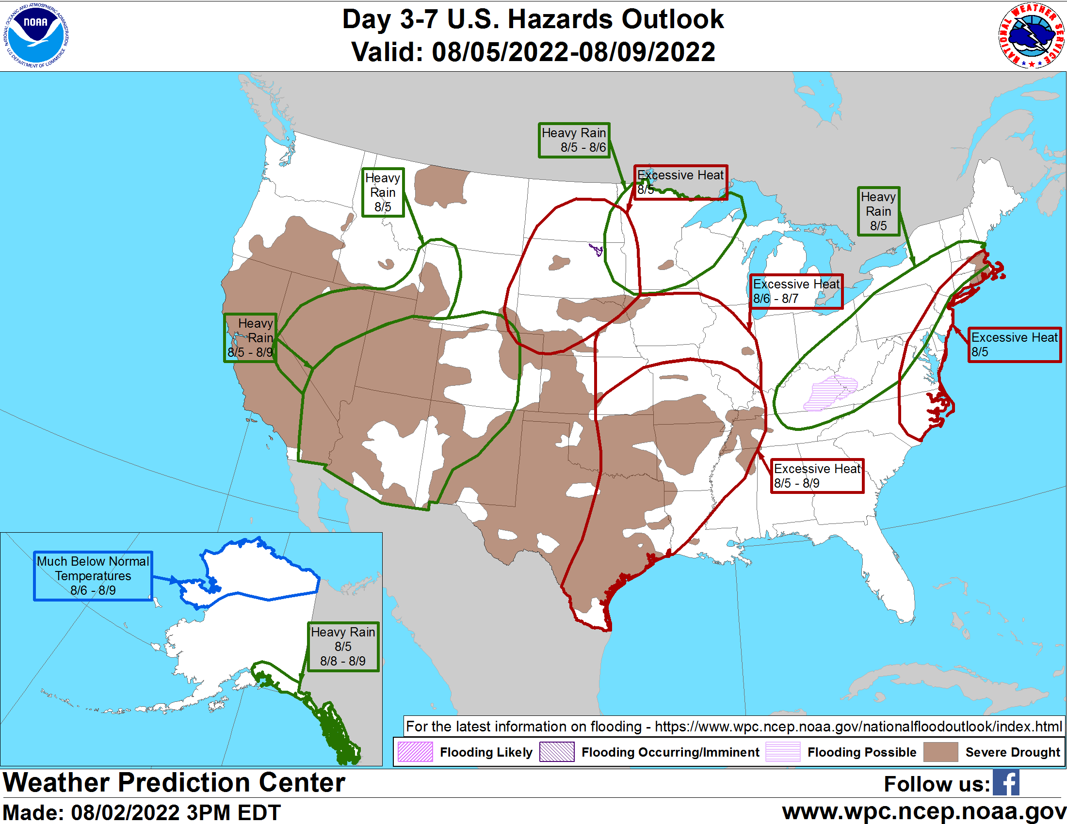 United States 3-7 Day Hazards Outlook