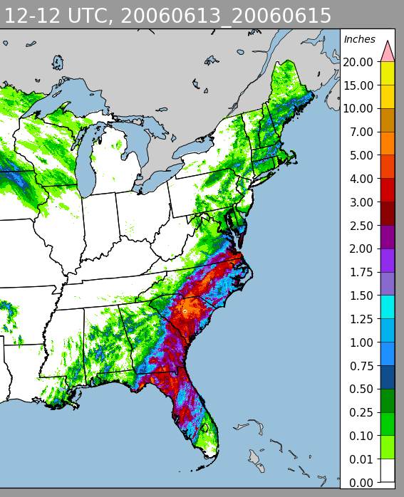 Alberto (2006) Radar Estimated Rainfall