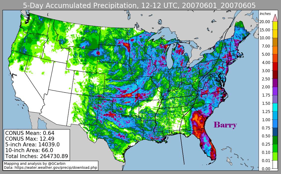 Tropical Storm Barry (2007) Rainfall