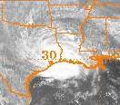 Hurricane Bonnie (1986) Visible