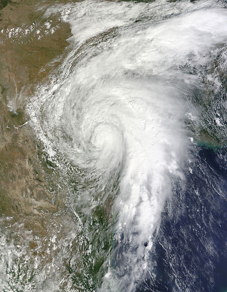 Tropical Storm Hermine over Texas