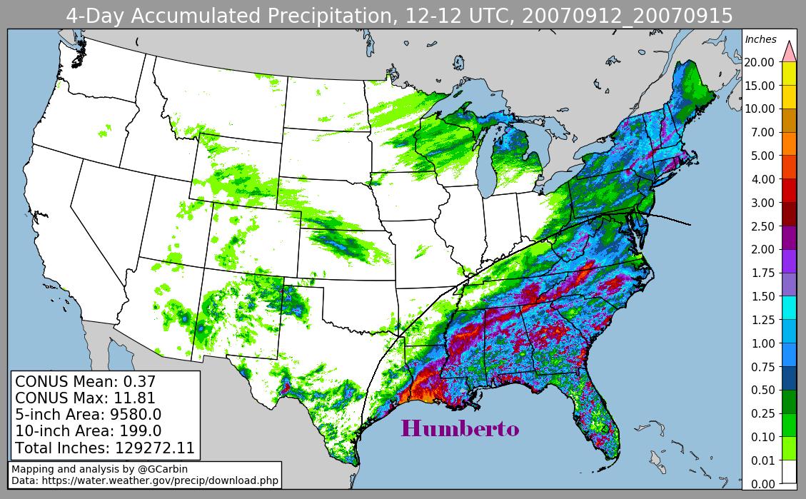 Humberto (2007) Storm Total Rainfall