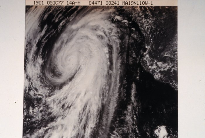 Hurricane Heather (1977) Visible image