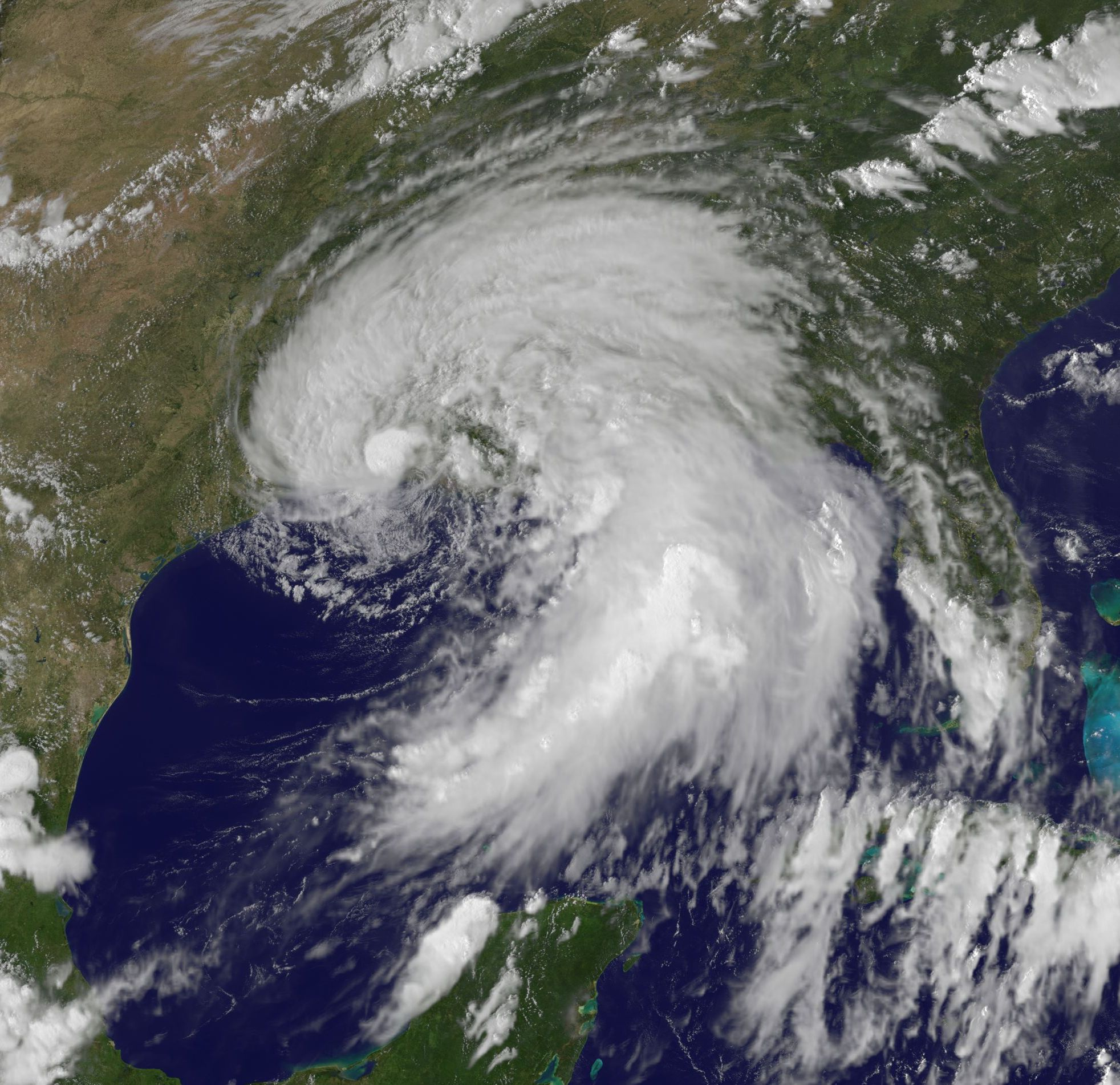 Tropical Storm Lee over southern Louisiana: late afternoon of September 3, 2011