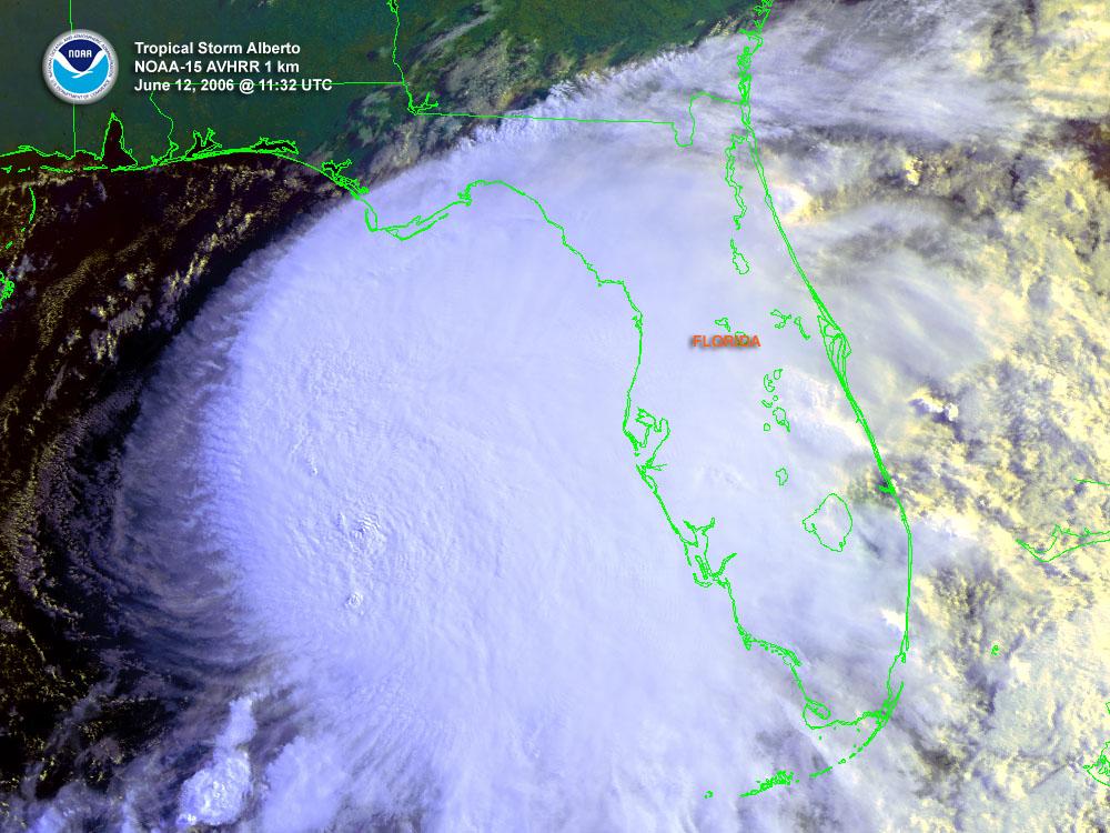 Alberto (2006) Satellite Image