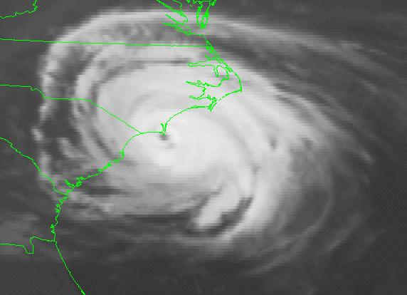 Hurricane Diana Satellite Image