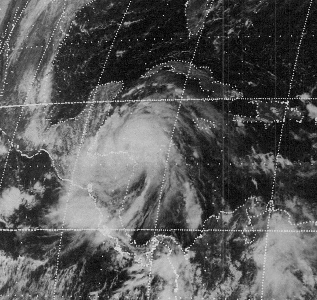 Satellite image of Hurricane Fifi