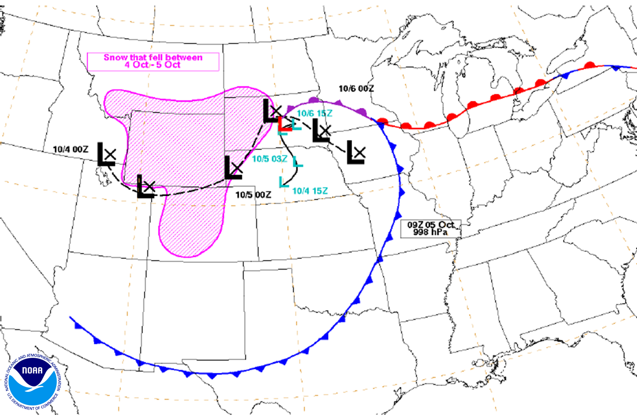WPCs Significant Weather Event Reviews - Us weather map october