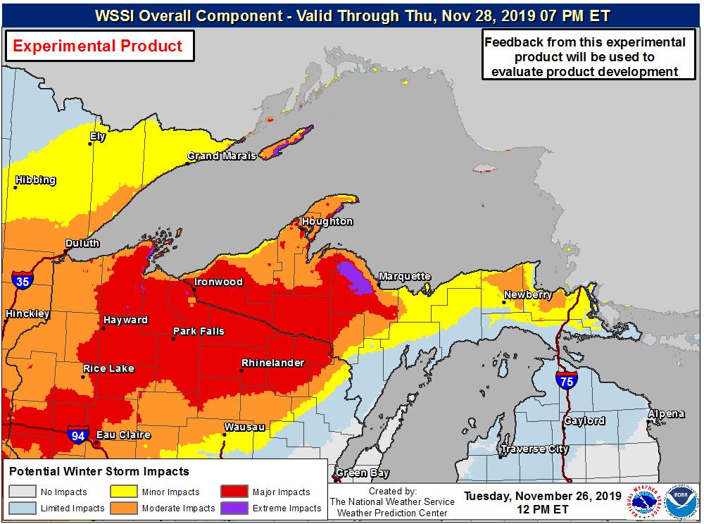 Winter Storm Severity Index